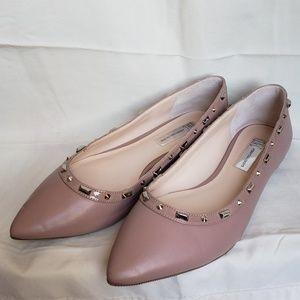 Studded Pink Flats